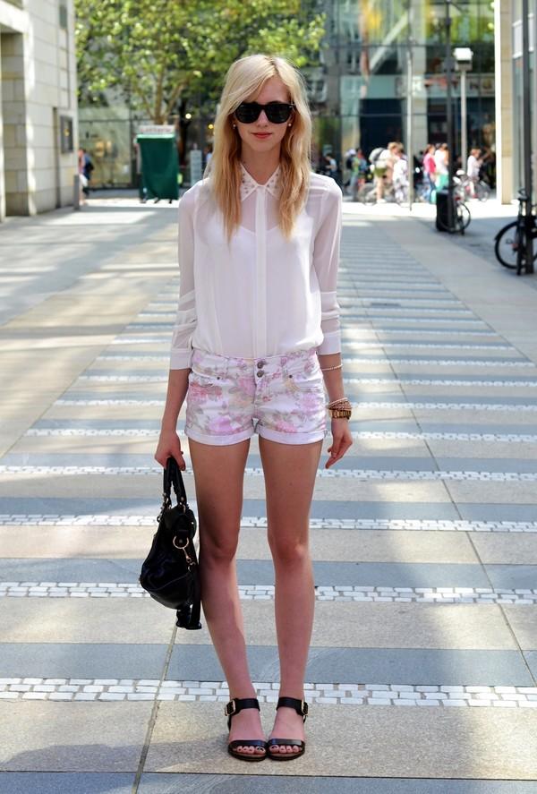 vogue haus blouse shorts shoes bag jewels