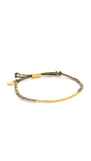 Gorjana Power Bracelet For Strength - Pyrite/Gold