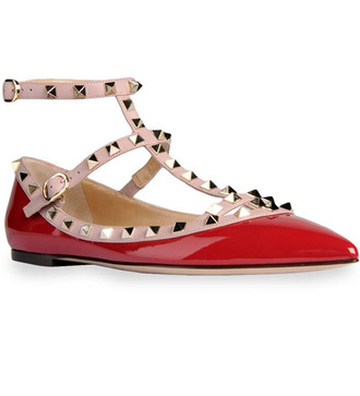 shoes valentino shoes studded patent shoes