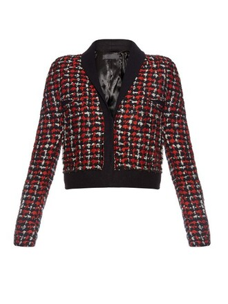 jacket cropped jacket cropped wool red
