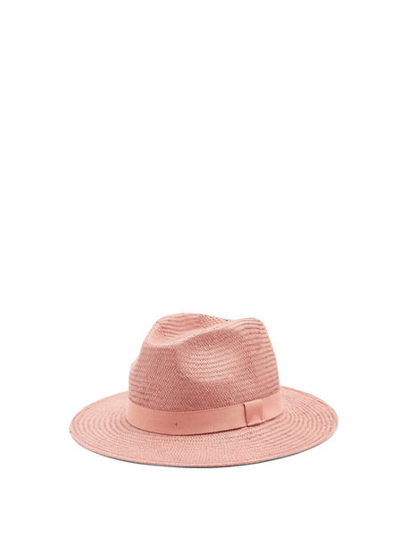 WEEKEND MAX MARA Oblare straw hat in pink