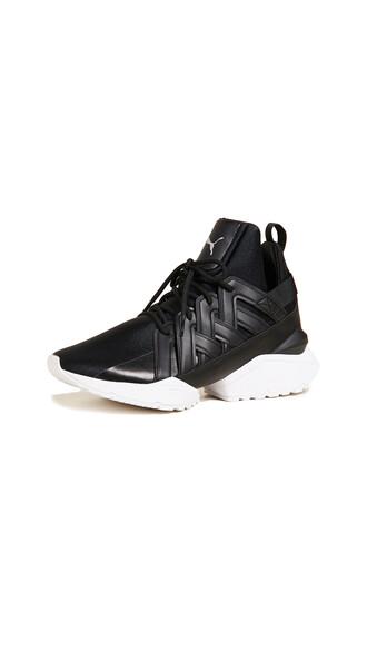 sneakers satin white black shoes