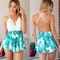 Pleated shorts   lace top