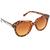 Tortoise-Shell Geometric Frame Sunglasses From Chelsea Doll : TruffleShuffle.com