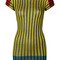 Missoni - striped bodycon dress - women - polyester/cupro/rayon - 40, yellow/orange, polyester/cupro/rayon