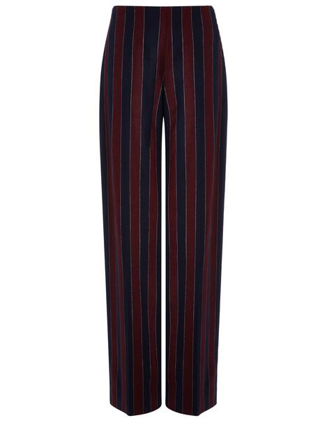wool burgundy flannel