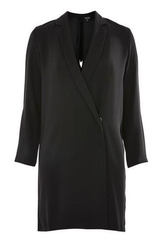 blazer bow back bow back black jacket