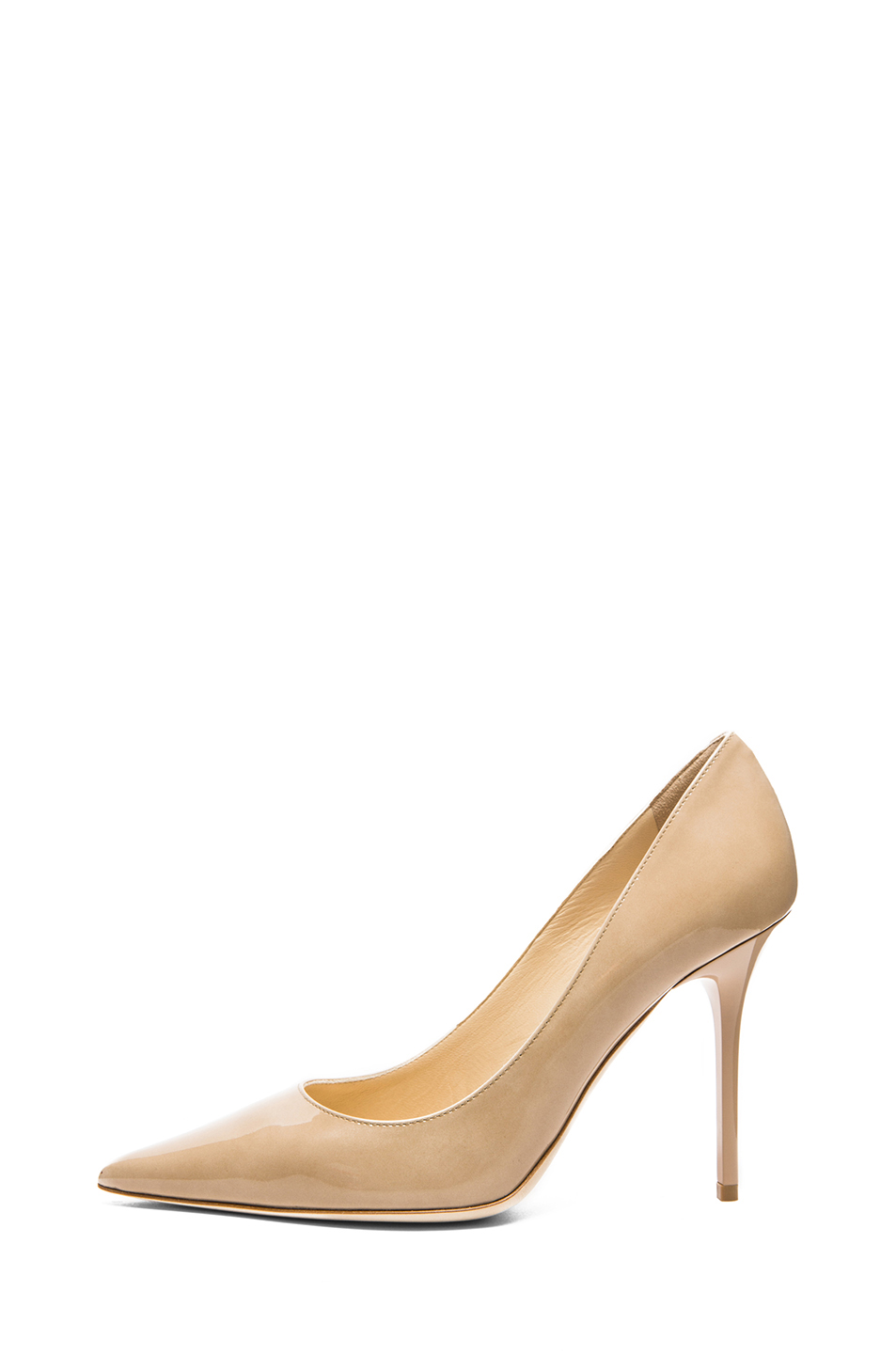 Jimmy Choo|Abel Pump 100mm in Nude Patent