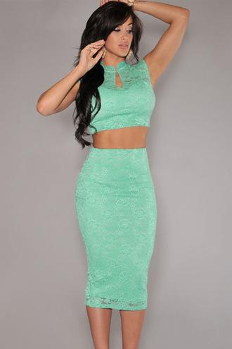 dress mint mint dress lace