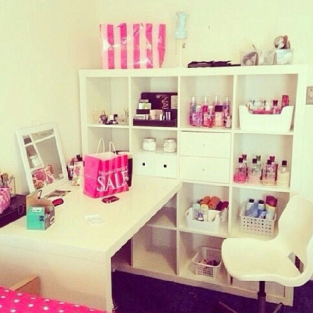 Bag cute home decor makeup table wheretoget for Cute house decor