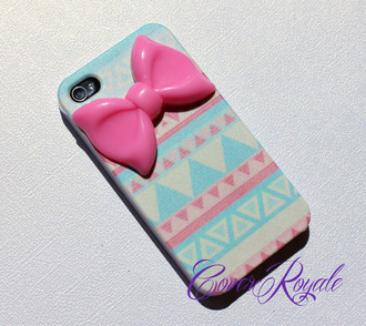 jewels iphone cover iphone case iphone iphone 4 case bow bows aztec phone cover