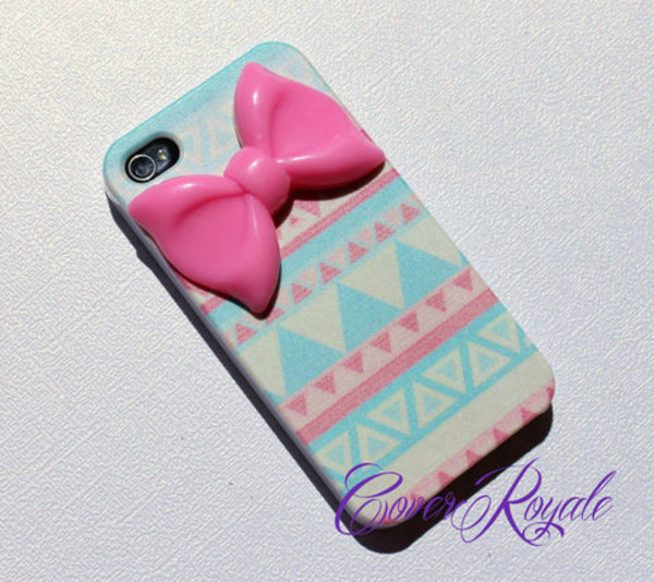 jewels iphone cover iphone case iphone iphone 4 case iphone 4 case bow bows aztec