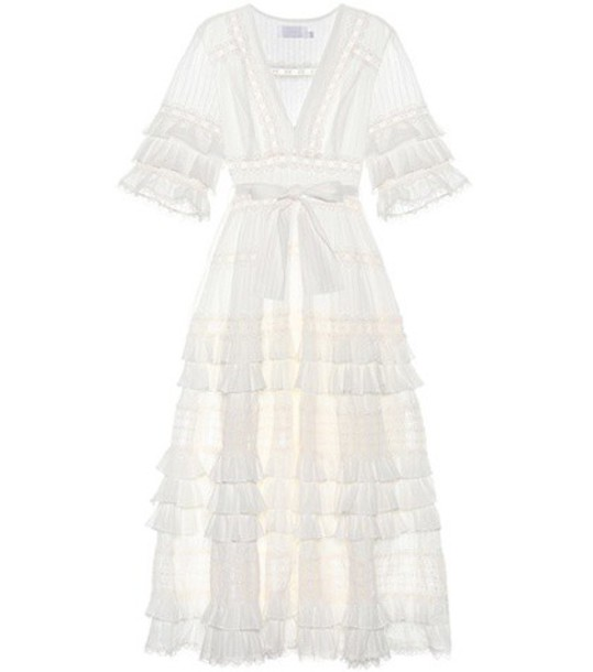 Zimmermann dress midi dress midi cotton white