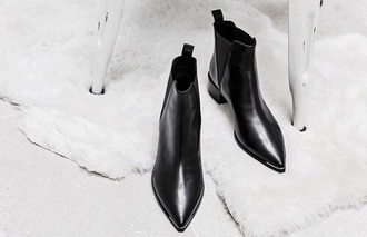 shoes booties leather ankle boots