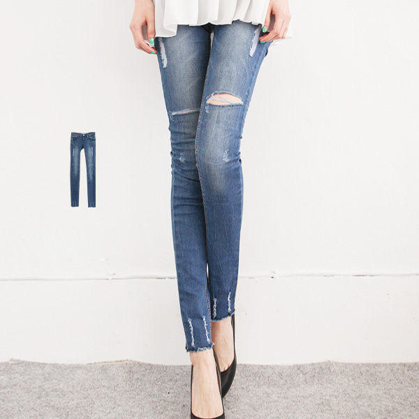 Distressed Skinny Jeans - LULUS | YESSTYLE