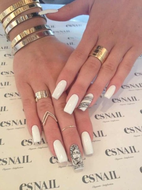 jewels gold versace ring bracelets kylie jenner jewelry nail polish