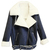 ROMWE | ROMWE Zippered Lapel Long Sleeves Blue Coat, The Latest Street Fashion