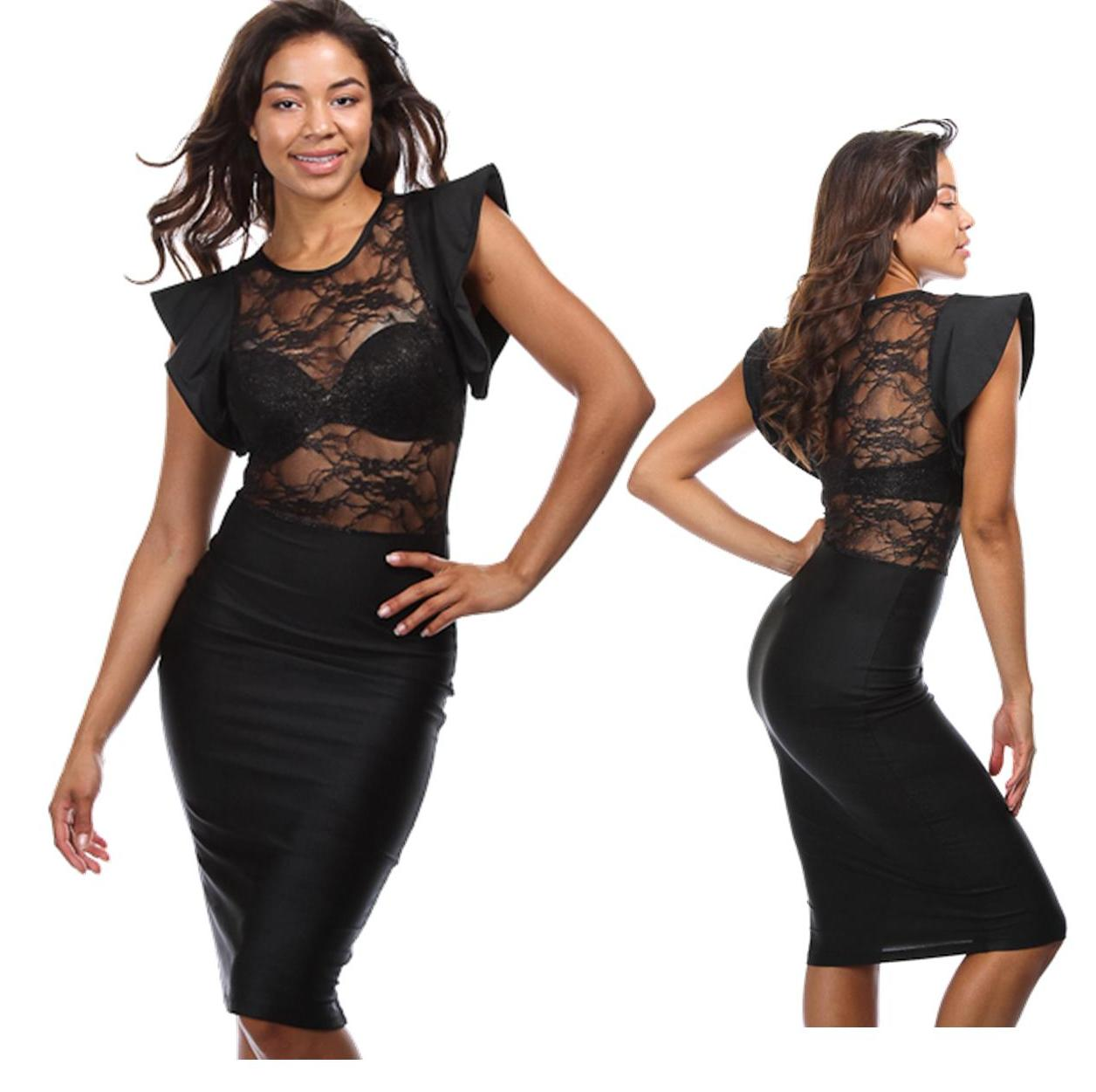 Lace and ruffle black dress · trendyish · online store powered by storenvy