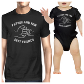 t-shirt,father and son best friend shirts,father and son t shirts,black t-shirt,cute matching shirts,cute matching clothes,cute baby onesies,cute baby clothing,365 printing,couple shirts