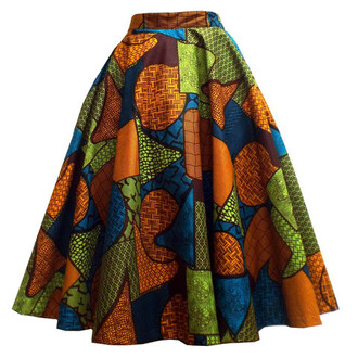 skirt african print skirt ladies skirts summer outfits african clothes wax print african design african print dress african print ankara african fashion african fabric multicolor geometric printed skirt