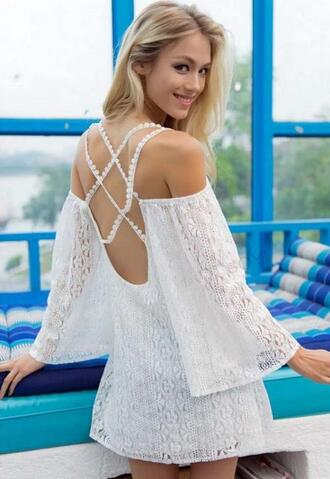 dress mesh white sexy dress white sexy dress white sexy jumpsuit white sexy little dress halter dress halter neck dress with colored straps bat sleeves lace blouse