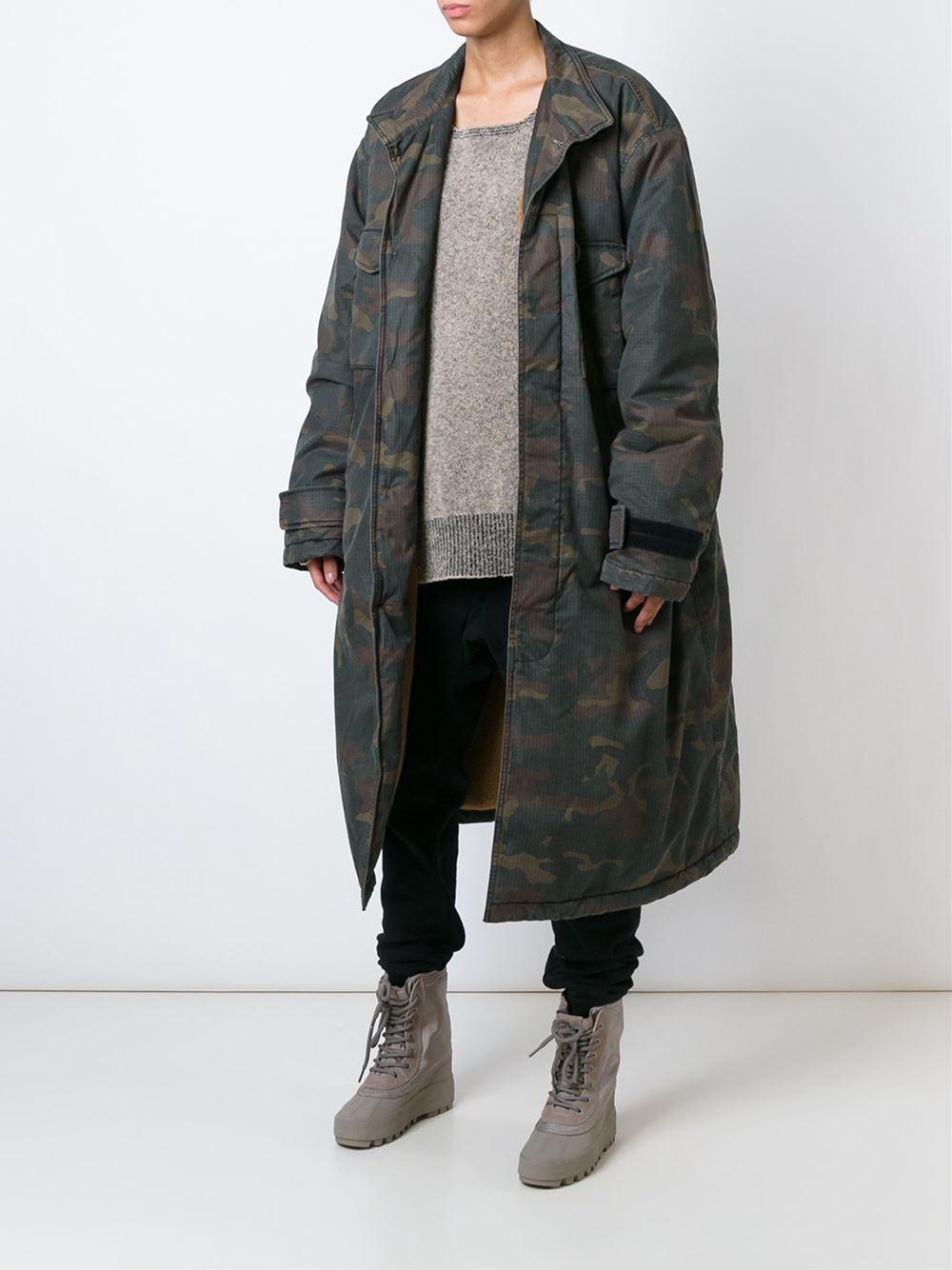 wholesale dealer a8d5a 88839 Yeezy Adidas Originals By Kanye West Camo Parka - Spazio Pritelli -  Farfetch.com