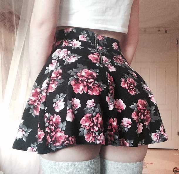 skirt mini skirt flowers printed skirt floral skirt flowered skirt colorful skirt colored skirt micro skirt