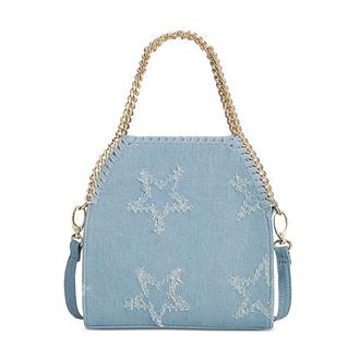 bag stars chain bag denim bag