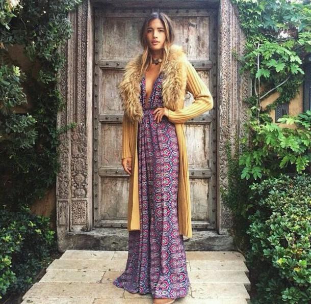 sweater boho dress hippie hippie chic