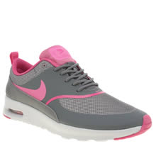 nike air max thea womens grey and pink