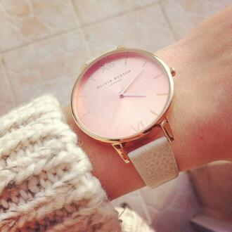 jewels olivia burton watch pink white jewels pullover london
