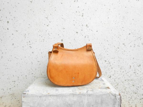 bag handmade bag vintage leather bag hippie leather bag boho leather bag leather purse shoulder bag crossbody bag tan leather bag vintage