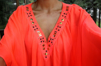 shirt summer gold corail doré chemise