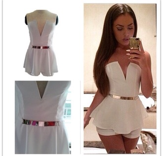white playsuit celebrity style beautiful