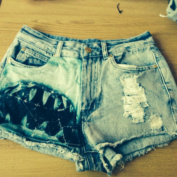 shorts jaws denim cut offs