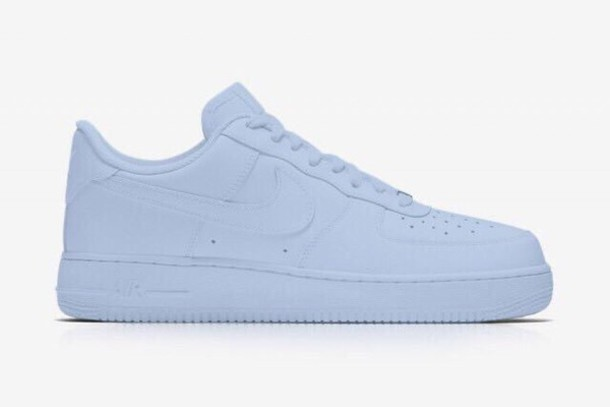 9c02ae12c7117 shoes, nike, nike shoes, nike air force 1, blue, baby blue, light ...