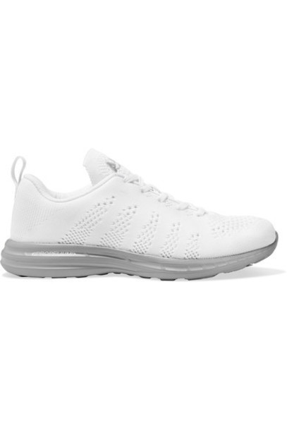 mesh sneakers white shoes