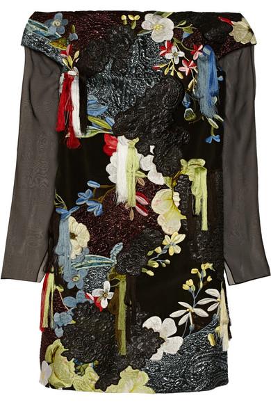 Juliana embellished silk