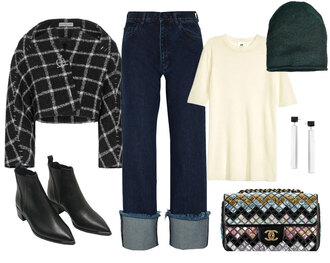 look de pernille blogger shoes jeans jacket top jewels bag hat