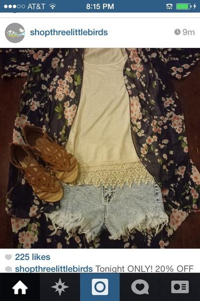 blouse jacket shorts