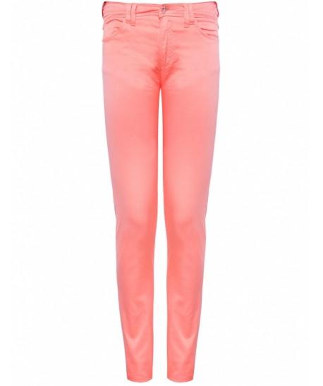 Armani jeans peach mid rise skinny jeans