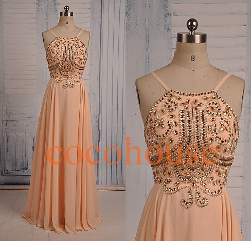 New fashion long crystals prom dresses sexy party dresses formal evening gowns homecoming dresses evening dresses wedding party dresses