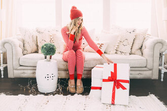 pajamas tumblr christmas christmas pajamas holiday season sofa pillow home decor home accessory home furniture beanie pom pom beanie