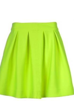Neon skater skirt