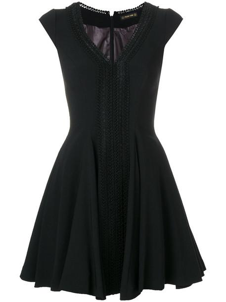 Plein Sud dress women spandex black wool