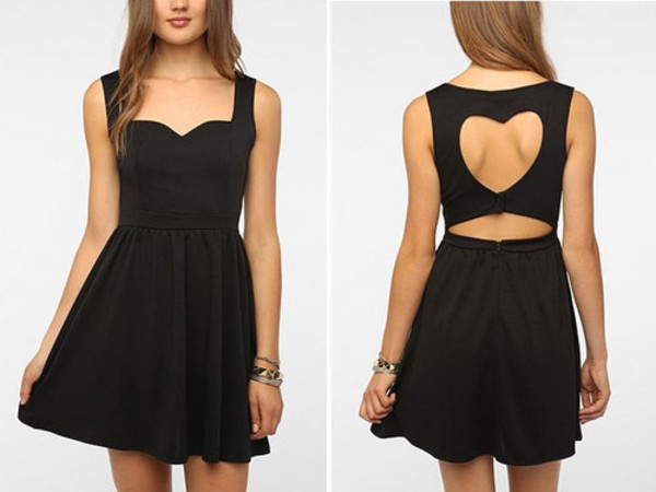 dress heart back dress black sweetheart dress long skirt