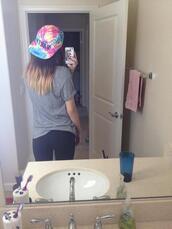hat,body selfie,acacia brinley,tie dye