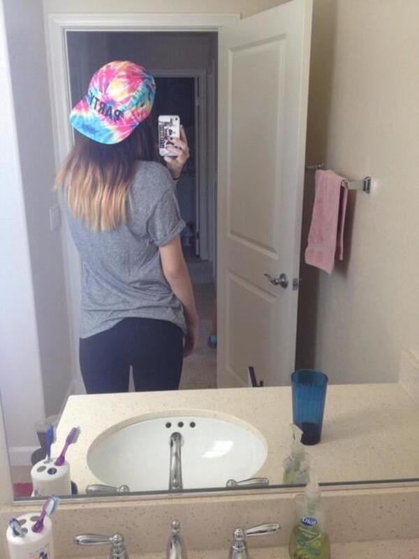 hat body selfie acacia brinley tie dye tie dye