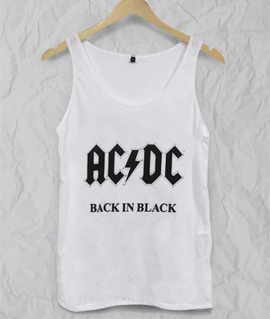 Back in black t shirt - Acdc Back In Black Adult Tank Top Men And Women