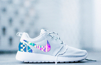 shoes nike roshe roshe runs nike roshe runs aztec tribal design new fashion swagg colors prints galaxy streetwear dunks air max all white platinum white etsy handmade sneakers tennis shoes jumpsuit
